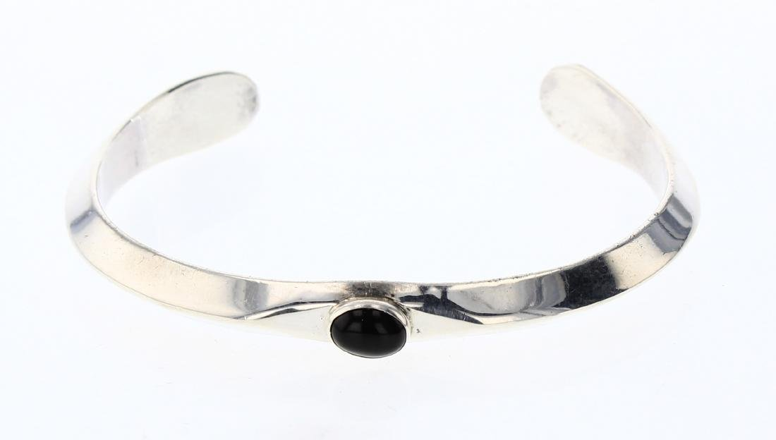 Black Onyx High Shine Cuff Bracelet