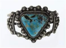 Vintage Blue Diamond Turquoise Star Drop Cuff Bracelet