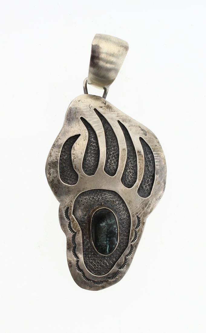 Timothy Yazzie Bear Paw Pendant