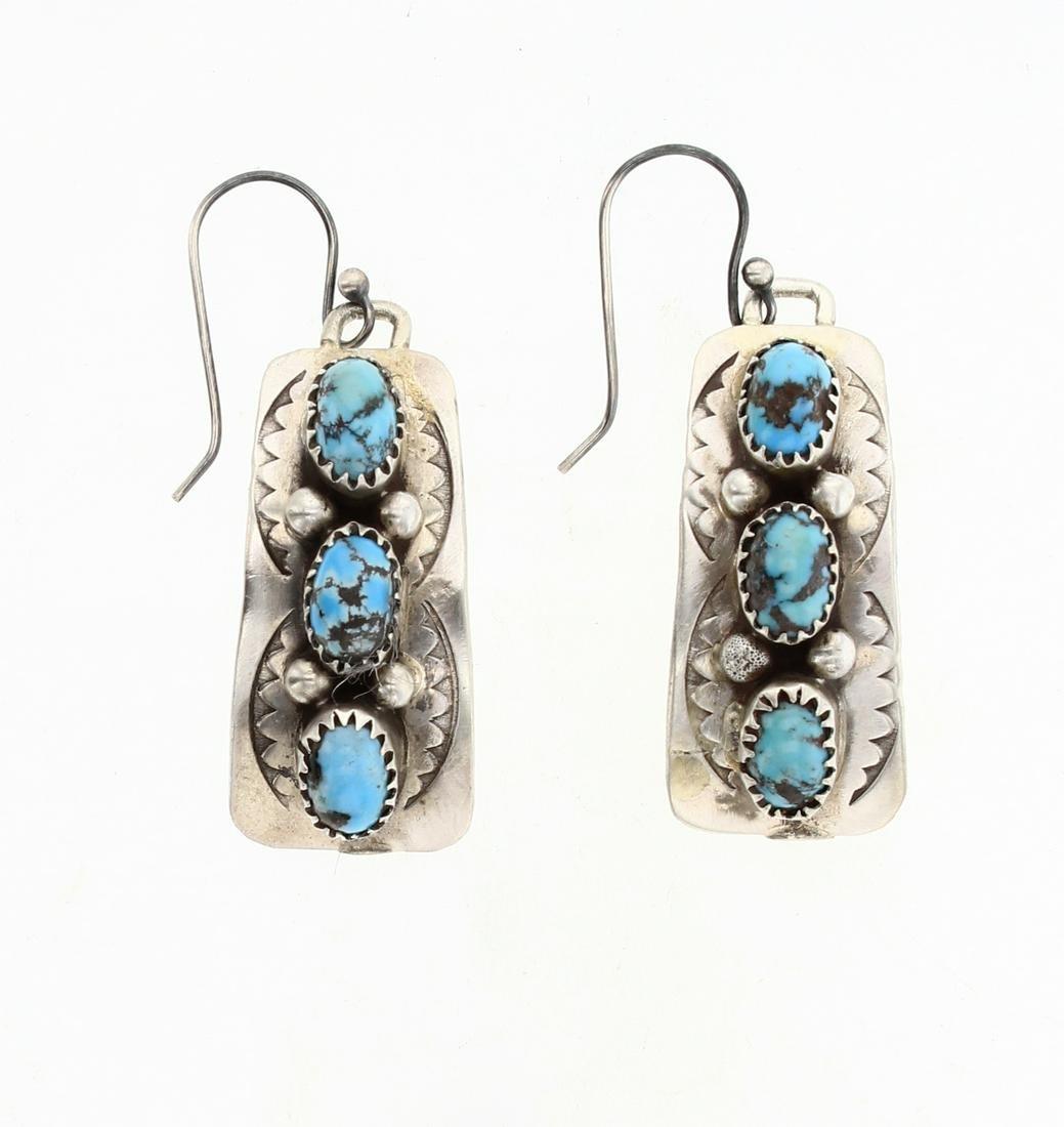 Vintage Turquoise Hook Earrings