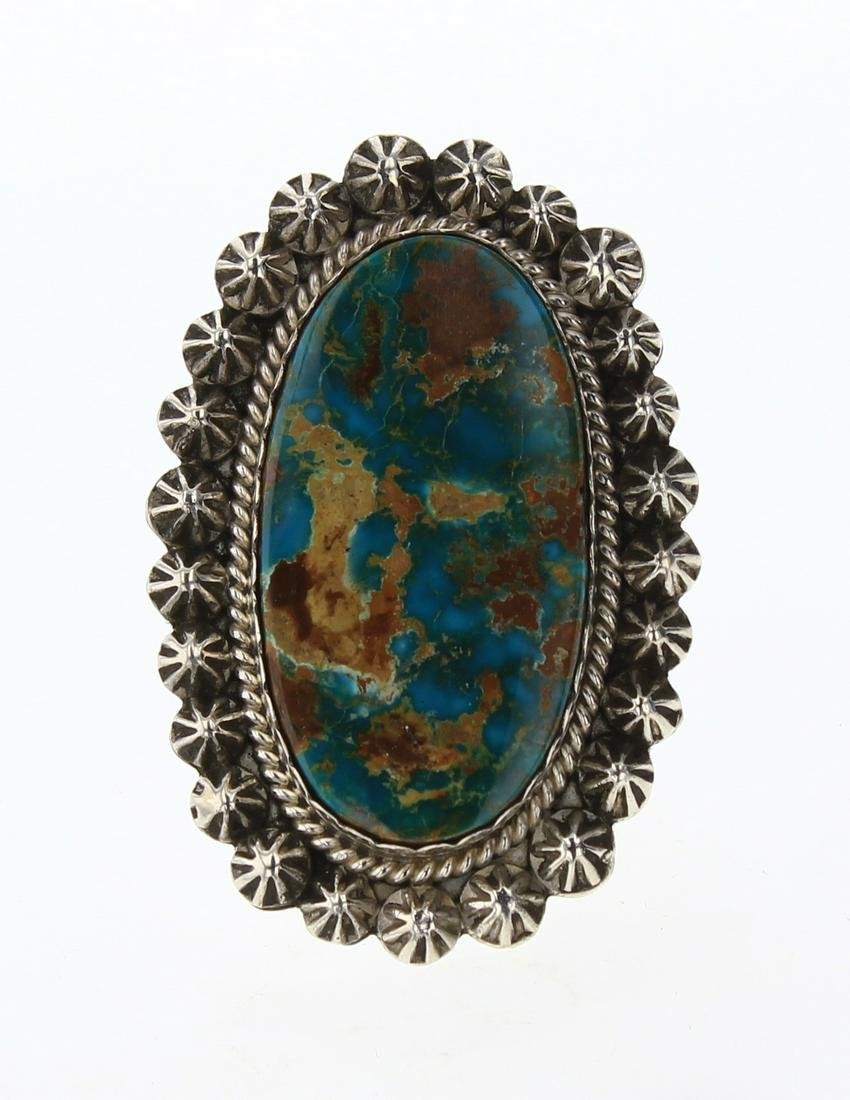 Gilbert Tom Royston Turquoise Star Drop Ring