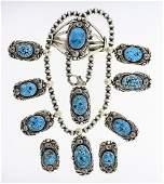 Jimmy Lee Spiderweb Kingman Turquoise Bracelet Ring
