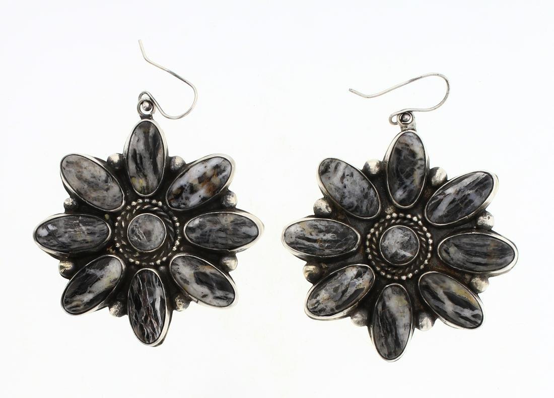 Eleanor Largo White Buffalo Cluster Earrings