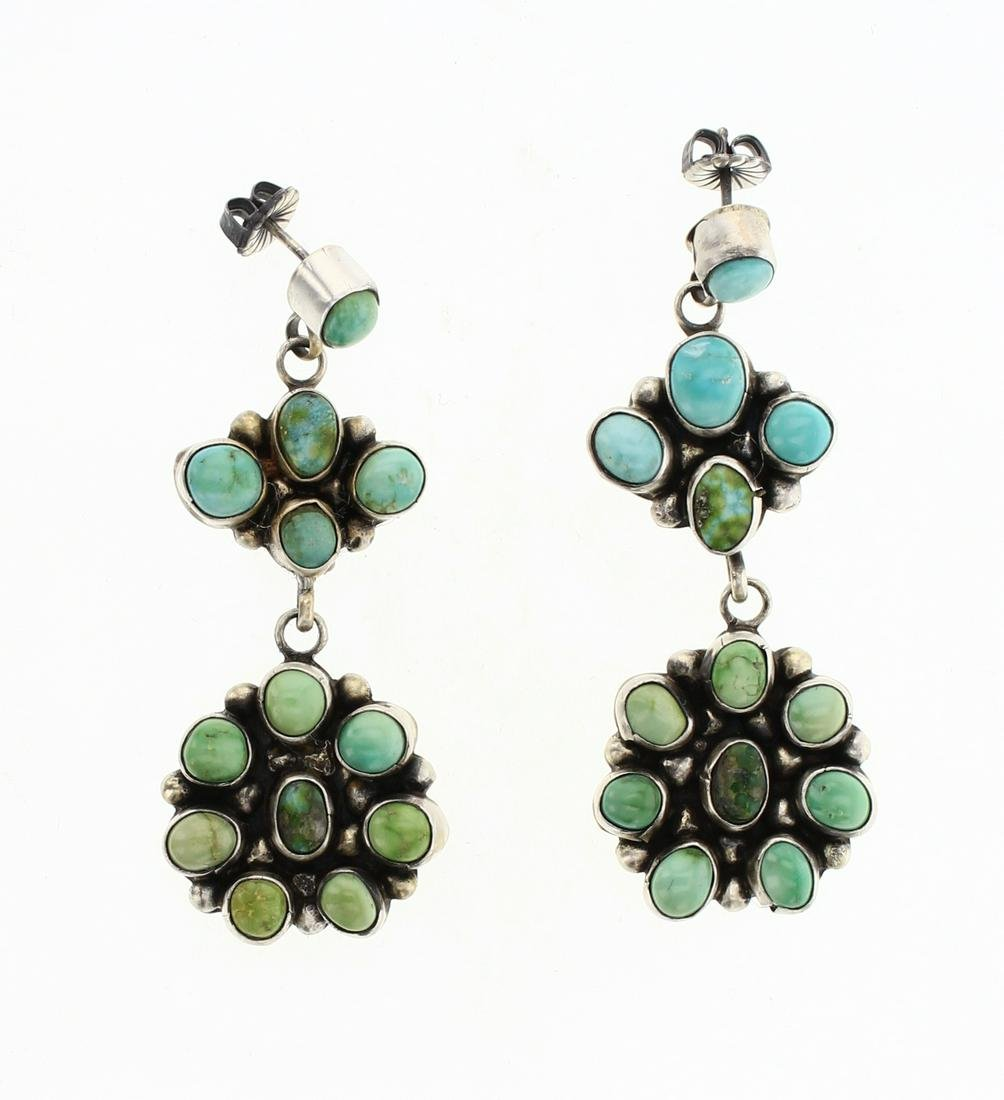 Eleanor Largo Emerald Valley Turquoise Dangle Earrings