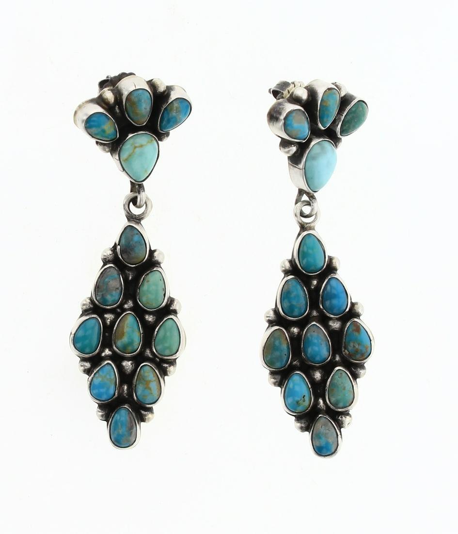 Eleanor Largo Fox Turquoise Cluster Earrings