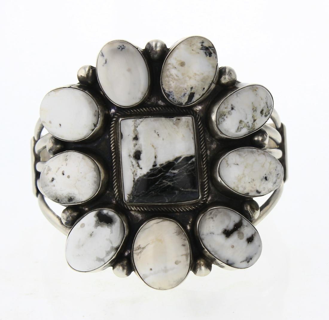 Bobby Johnson White Buffalo Large Cluster Cuff Bracelet
