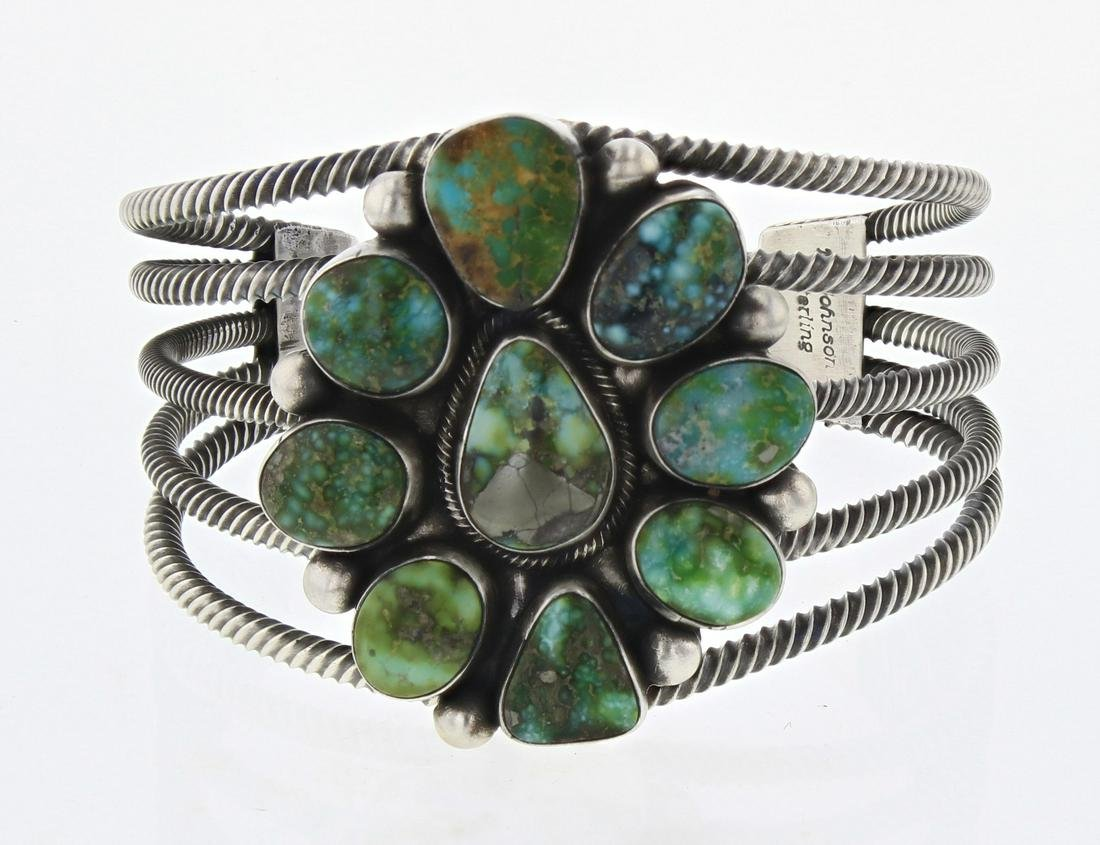 Bobby Johnson Sonoran Gold Turquoise Wire Cuff Bracelet