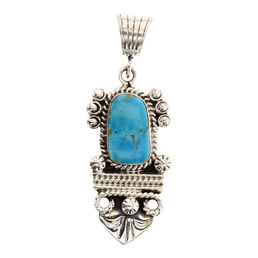 Gilbert Tom Kingman Turquoise Pendant