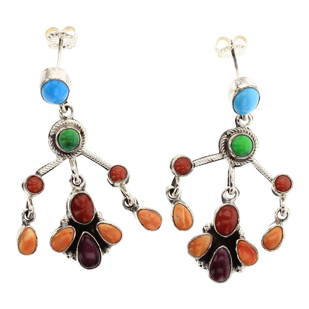 Eleanor  Largo Multi Color Chandelier Earrings