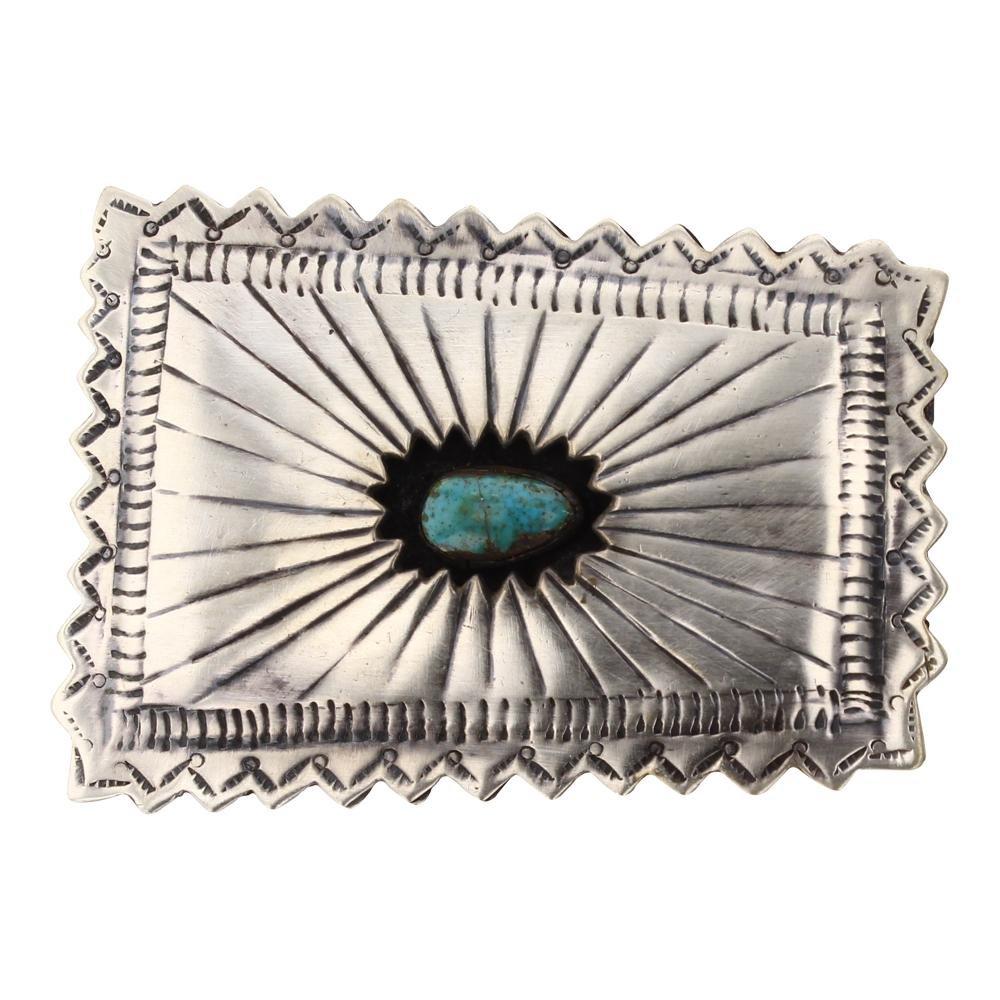 Vintage Turquoise Shadow Box Belt Buckle