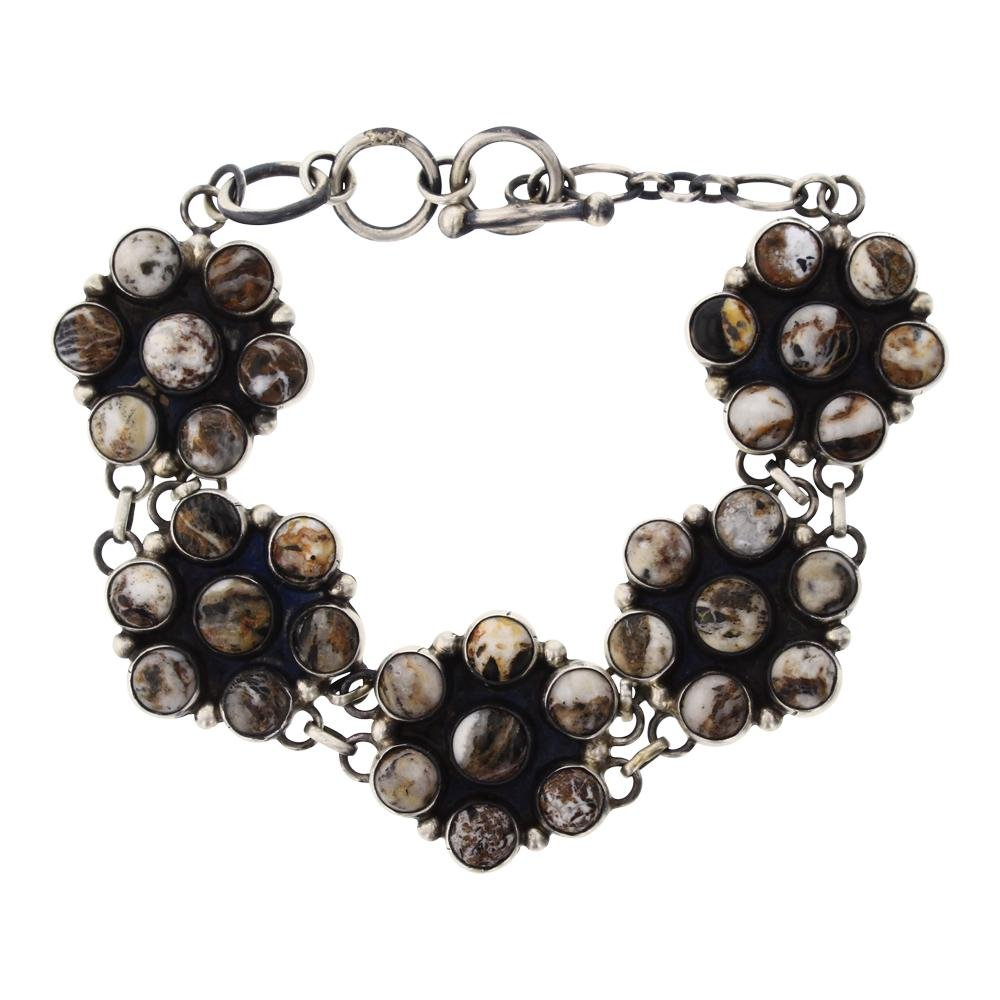 Paul Livingston White Buffalo Cluster Link bracelet