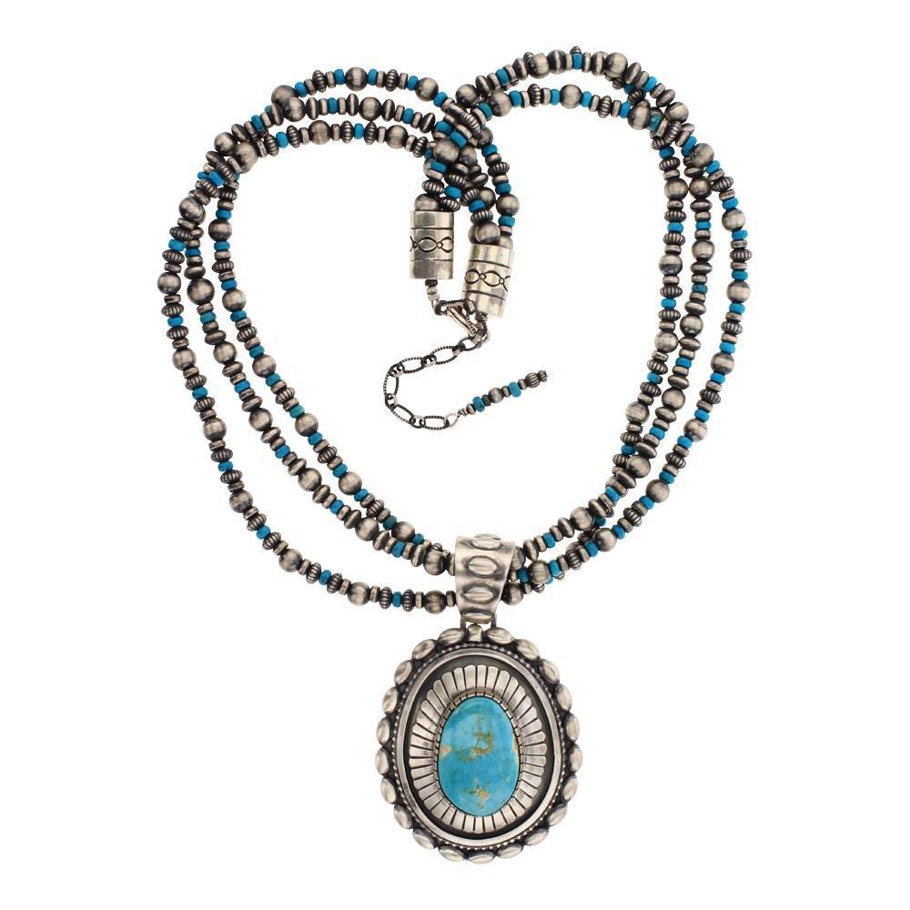 Larry Martinez Chavez Royston Turquoise Necklace &