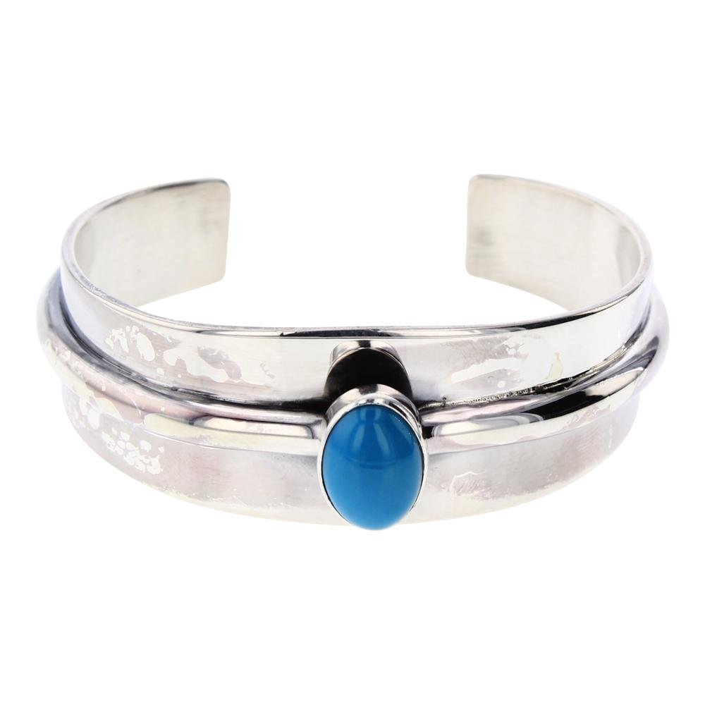 Mark Yazzie Sleeping Beauty Turquoise Contemporary Cuff