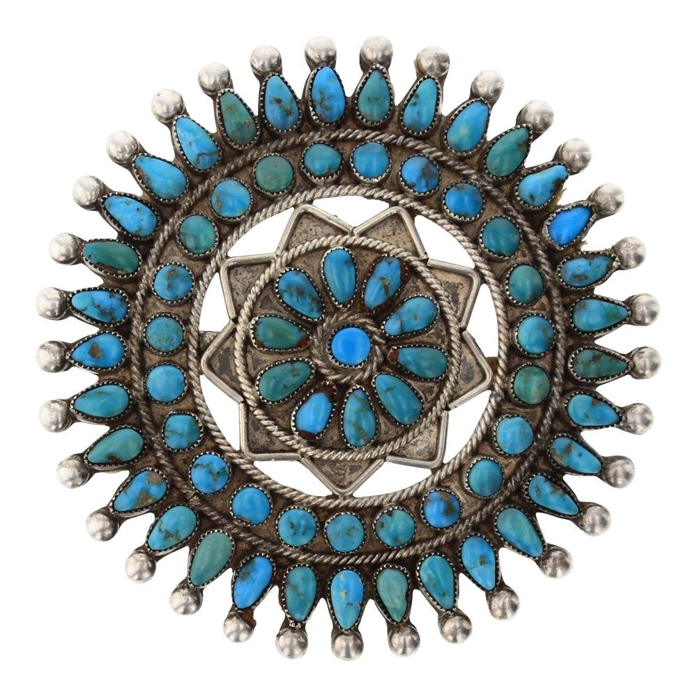 Old Pawn Sleeping beauty Turquoise Pin