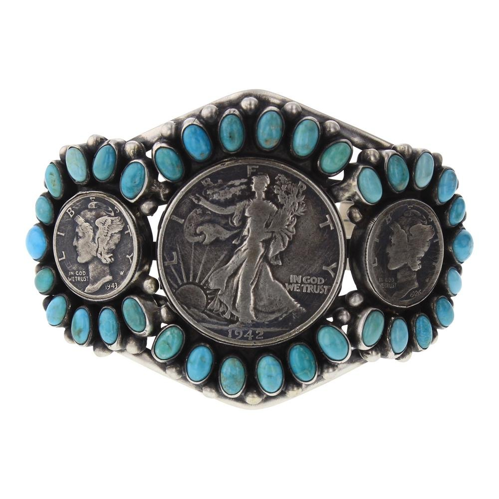 Paul Livingston Kingman Turquoise Walking Liberty and