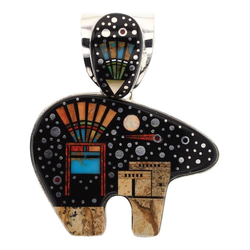 Mathew Jack Night Sky & Pueblo Micro Inlay Pendant