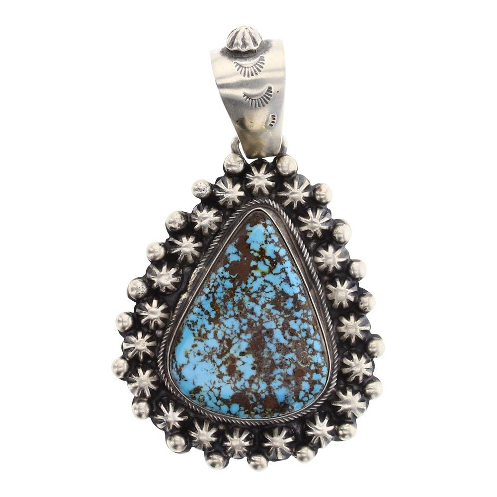 Boyde Ashley Number Eight Turquoise Heavy Star Drop