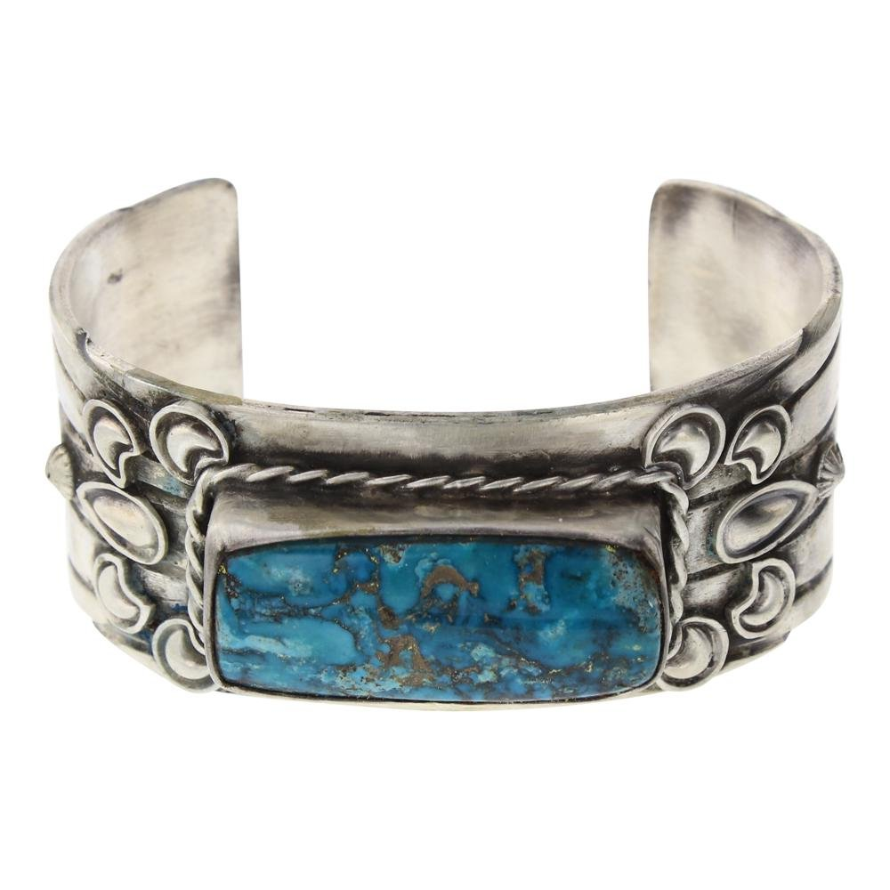 Old Pawn Turquoise Bump Out Cuff Bracelet