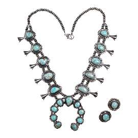 Mark Yazzie Gem Grade Number Eight Turquoise Double