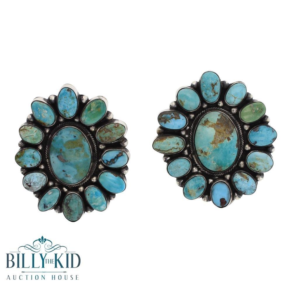 Eleanor Largo  Turquoise Cluster Post Earrings