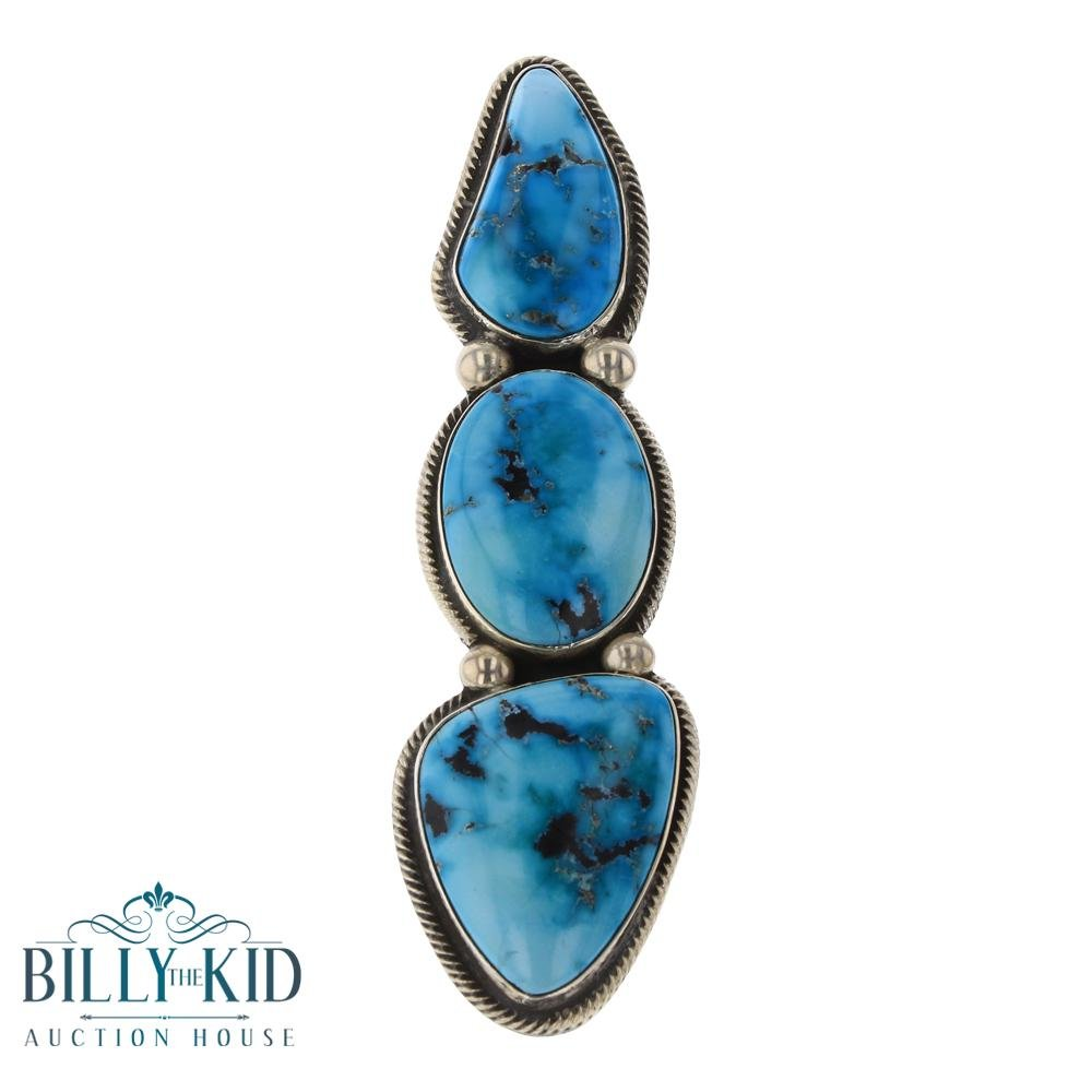 Rick Martinez Blue Gem Turquoise Three Stone Freeform