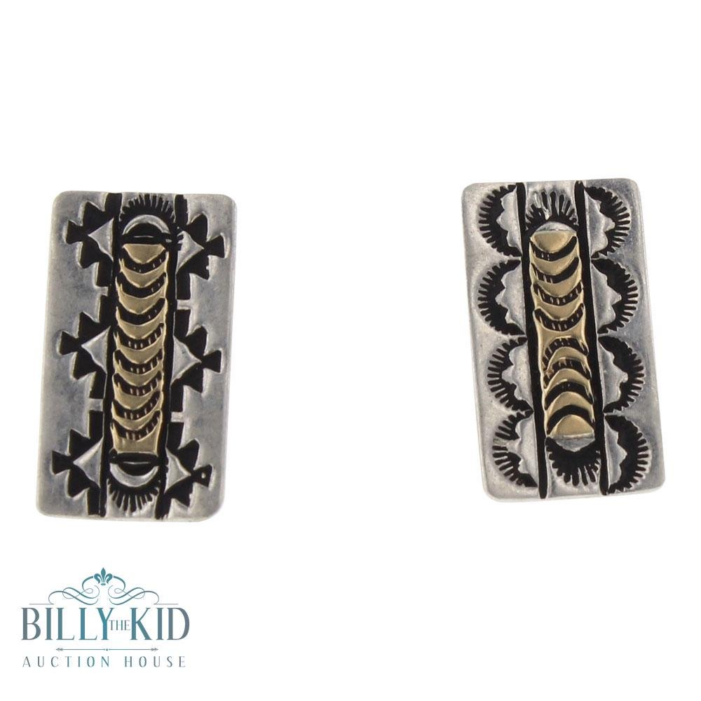 RT Vintage Pawn 14K Gold & Sterling Silver Earrings