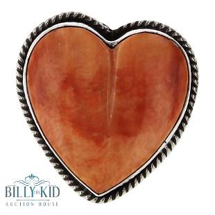 Yazzie Spiny Oyster Heart Shaped Ring