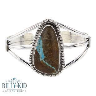 Sheila Becenti Boulder Turquoise Bracelet