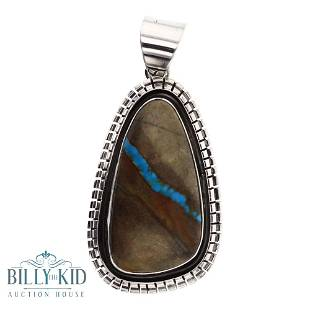 Esther Spencer Boulder Turquoise Pendant
