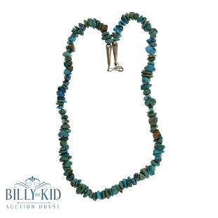 Vintage Nevada Green Turquoise Nuggets Necklace