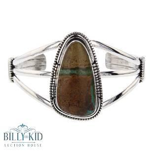 Larry Spencer Boulder Turquoise Navajo Bracelet