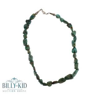 Nevada Green Turquoise Nugget Strand Necklace