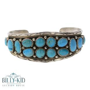 Vintage Kingman Turquoise Cuff Bracelet