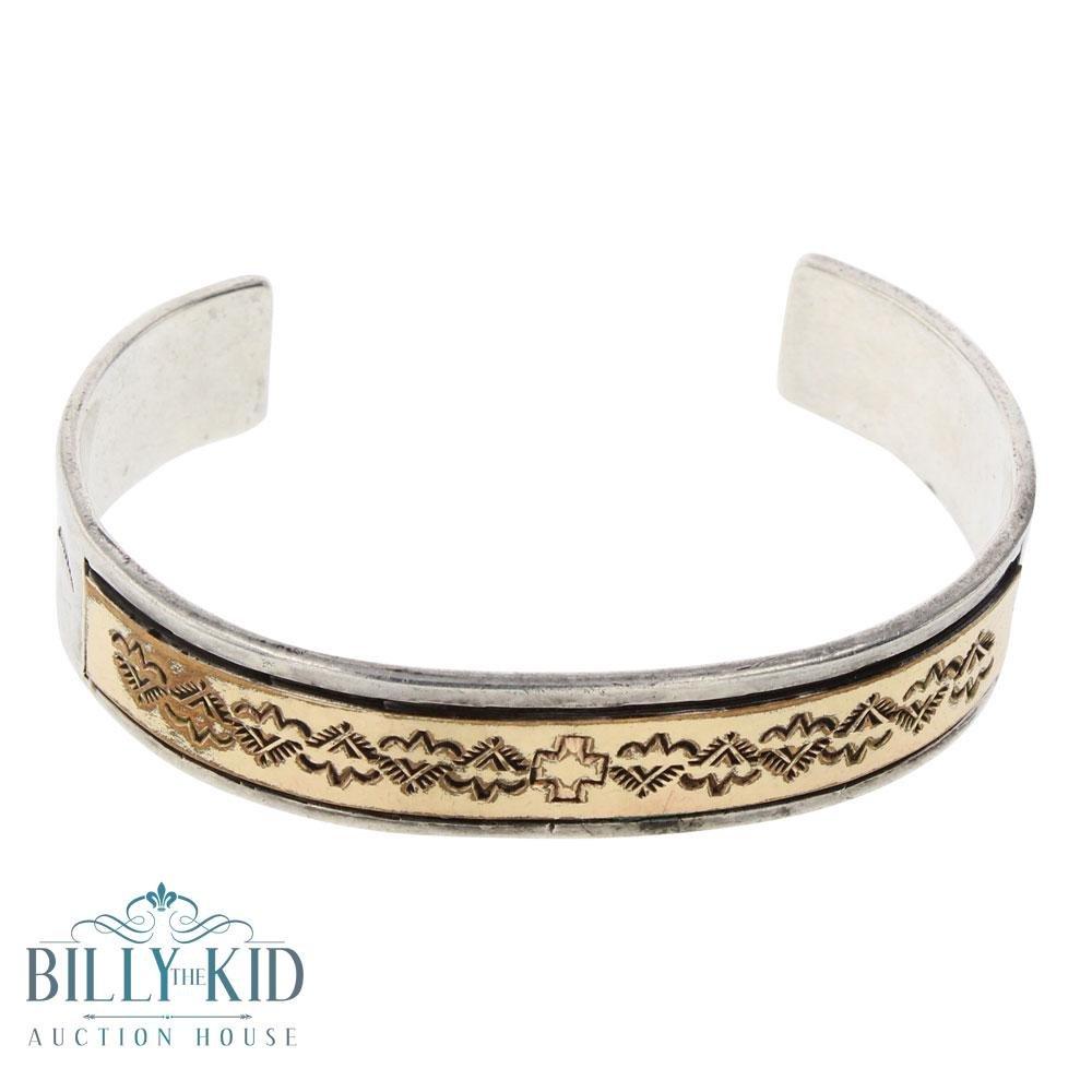 VB Vintage 12K Gold Filled Cuff Bracelet