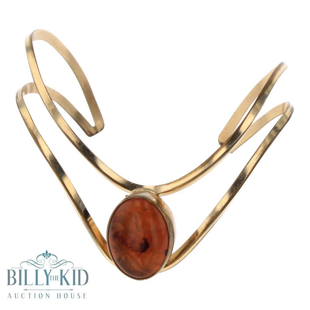 12k Gold Filled Amber Contemporary Bracelet
