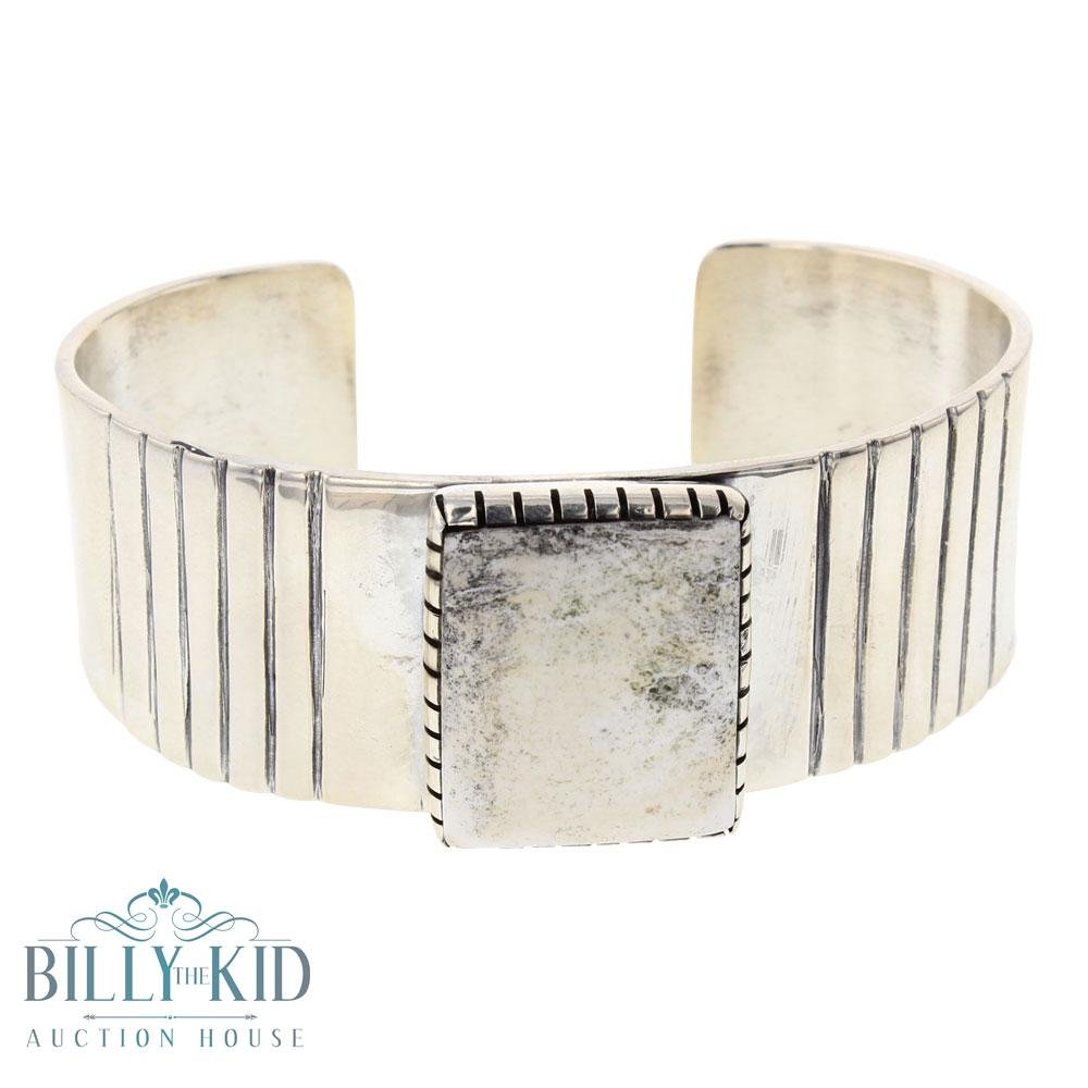 Delvin John White Buffalo Cuff Bracelet
