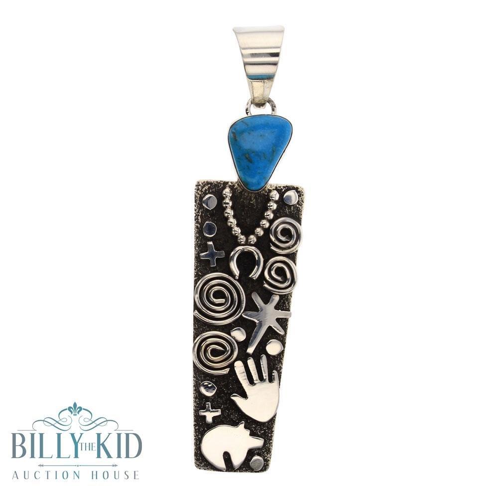 Alex Sanchez Blue Gem Turquoise Pendant