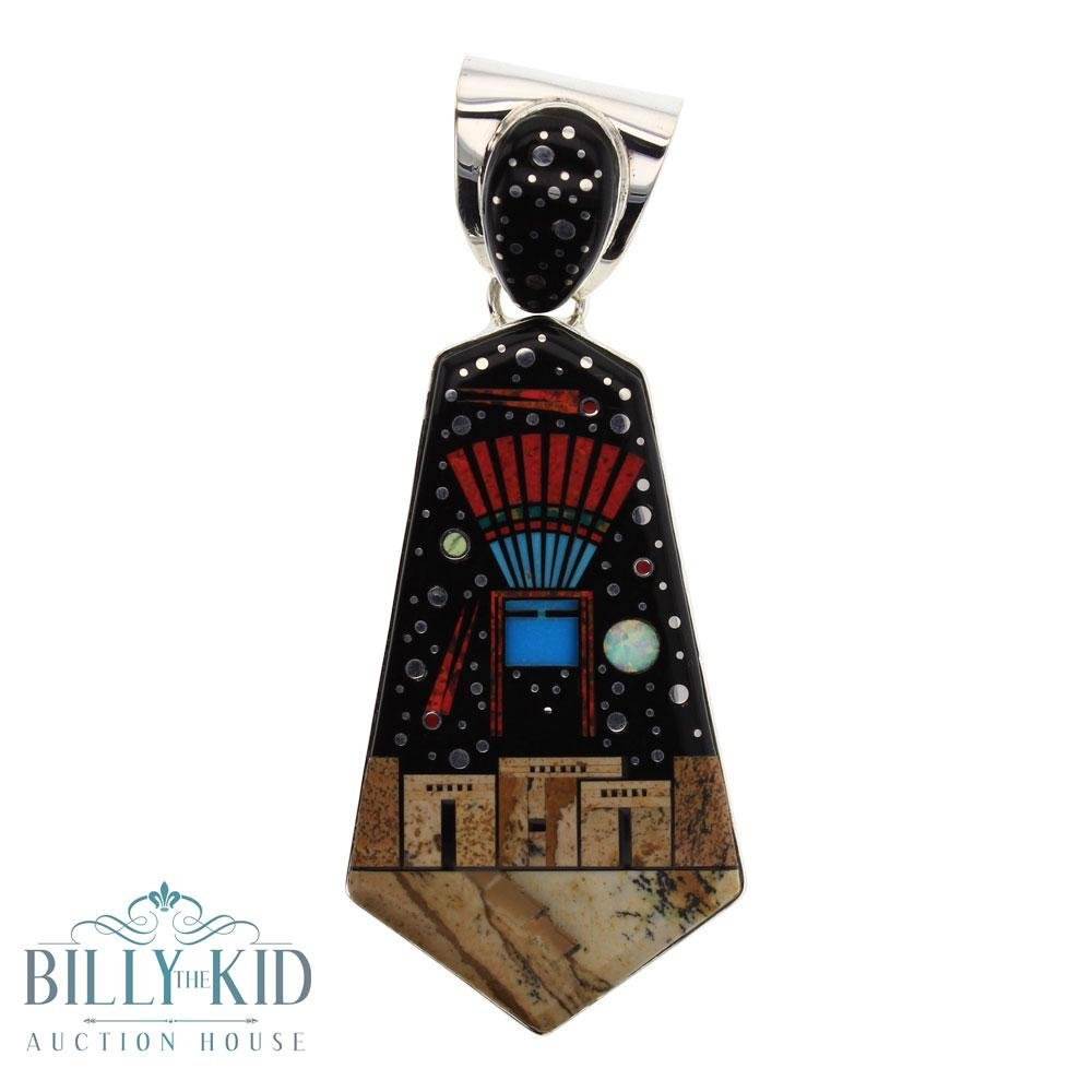 Mathew Jack Mixed Stones Night Sky Pueblo Pendant