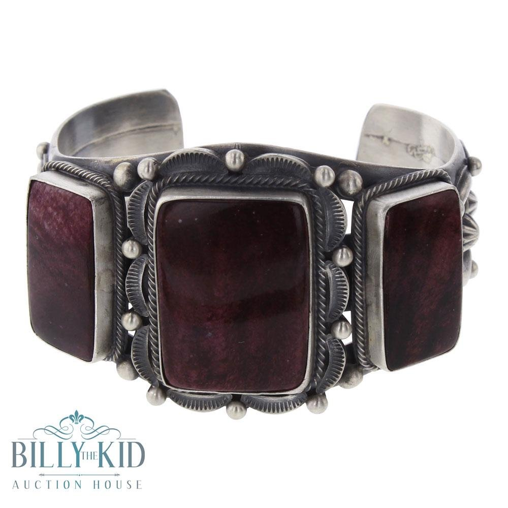 Tom Lewis Purple Spiny Oyster Large Rectangle Cuff