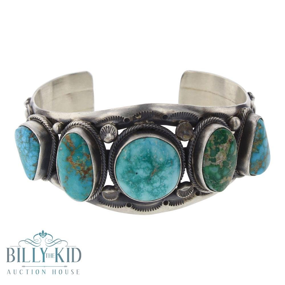 Tom Lewis Blue Ridge Turquoise Freeform Row Cuff