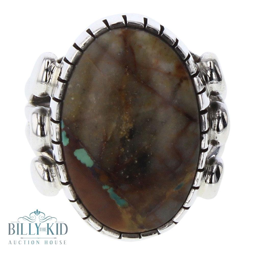 Sheila Becenti Boulder Turquoise Ring