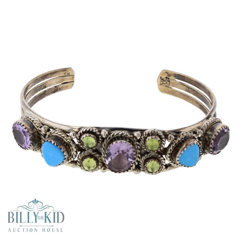 RB Turquoise Amethyst & Peridot Bracelet