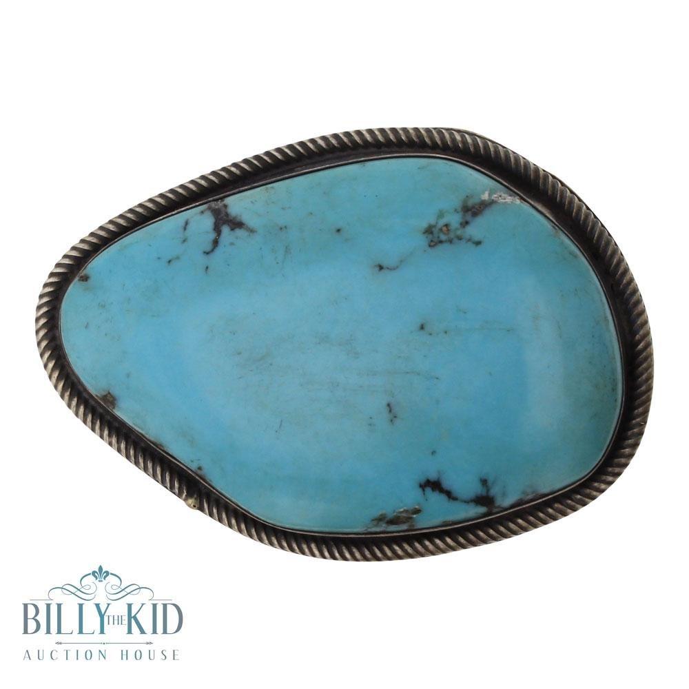 Benny Ramone Twist Wire Turquoise Belt Buckle