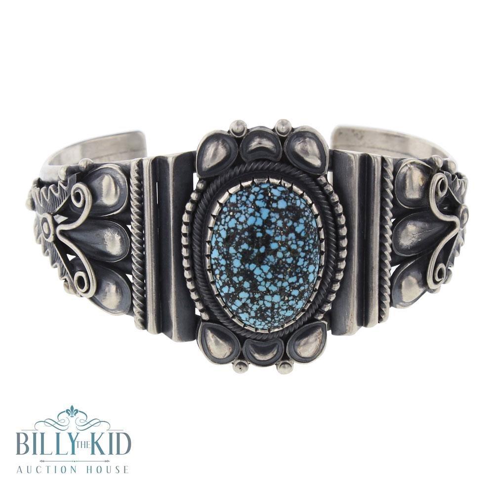 Derrick Gordon Spiderweb Kingman Turquoise Bracelet