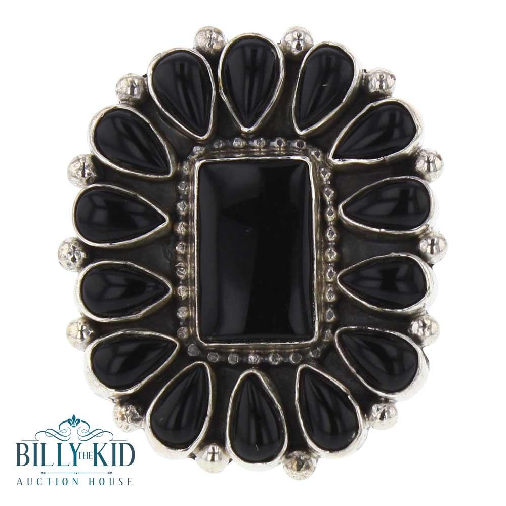 Beatty Tom Black Onyx Cluster Ring