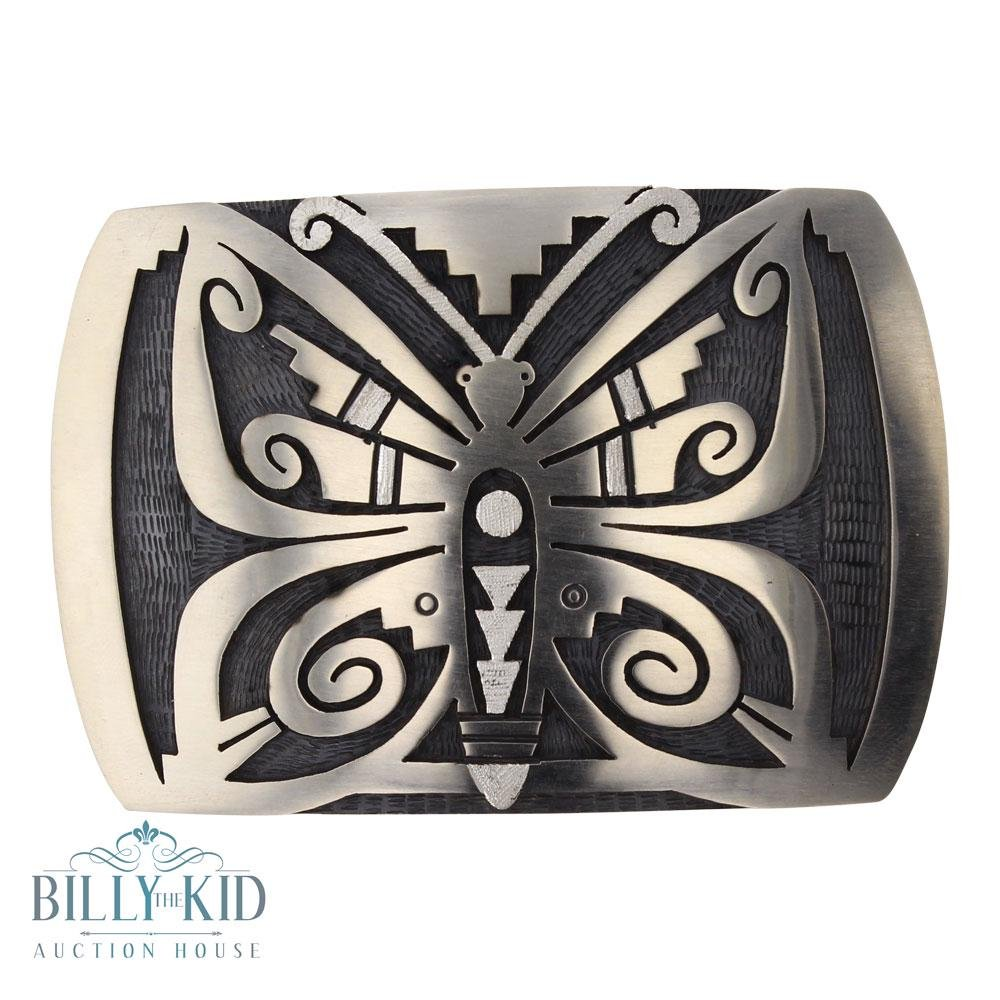 Hopi Butterfly Belt Buckle