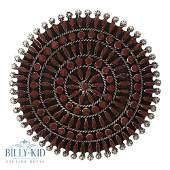 Vintage Zuni Needlepoint Coral Pin & Pendant