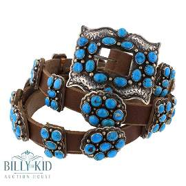 Daniel Martinez Old Morenci Turquoise Concho Belt