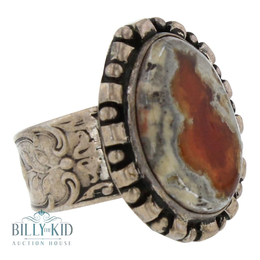 Vintage Mexico Agate ring