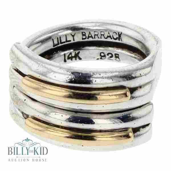 Lilly Barrack Vintage 14K Gold Accent Ring